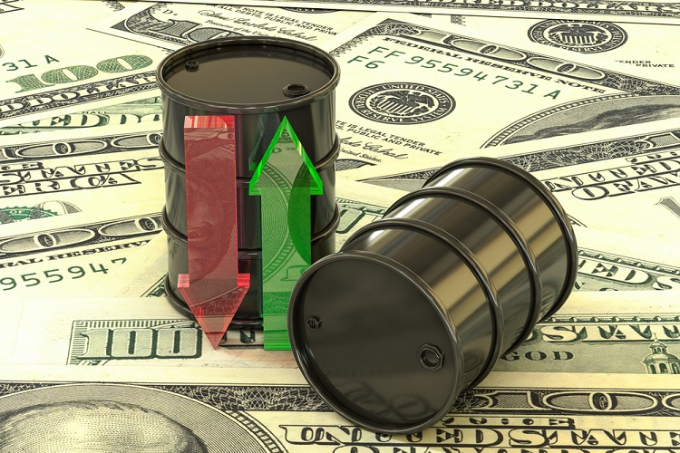 Oil prices as investors shrug off Libyan crude shortage
