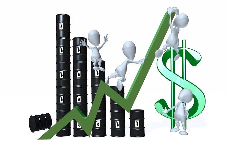 Oil prices edged up but future demand concerns cap gains