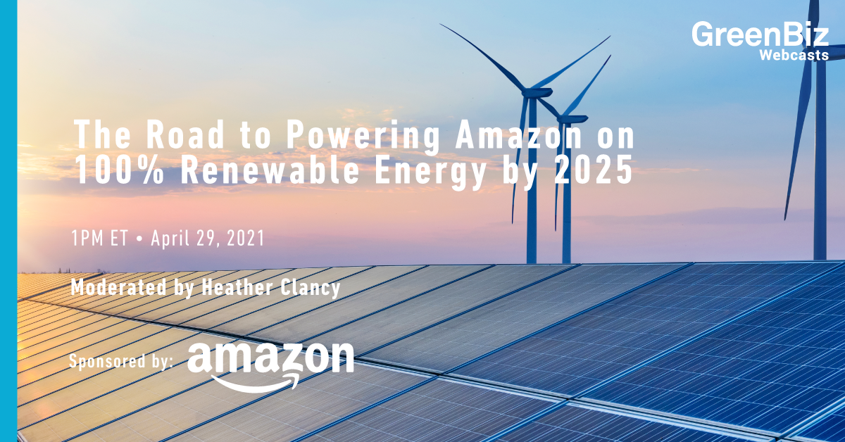 Amazon set to reach 100% renewable energy by 2025