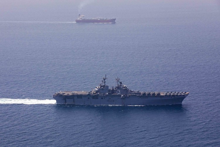 British Heritage held up by Iranian boats in Strait of Hormuz