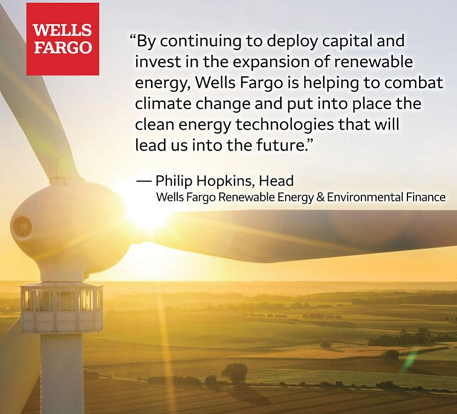 Wells Fargo Surpasses $10 Billion in Renewable Energy Tax-Equity Investments